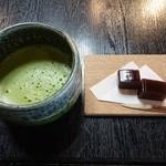 三峯神社 小教院 - 抹茶(ようかん付)540円