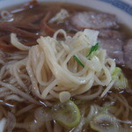 福士そば屋 - 細く白い独特な麺