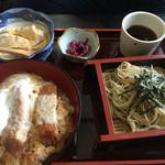 そば処三浦屋 - カツ丼セット1000円