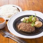ジャポネーゼソース ハンバーグステーキ(ライスorパン、スープ付き)