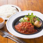 大宮ナポリソース ハンバーグステーキ(ライスorパン、スープ付き)