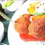 洋食家ロンシャン - カニクリームコロッケ五穀米SET (ランチ)