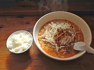 金山村 - 四川担々麺+ライスセット980円