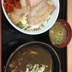 麺処 松福 - 福島松川ETC丼 610円 カレーうどん 480円