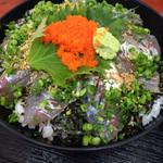 海鮮丸 - アジ丼