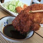 黒川食堂 - 黒川食堂(岡山県岡山市北区奉還町)若鶏・大のカツ