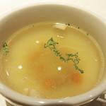 立ち食い一番ステーキ - コンソメスープ。