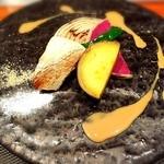 神楽坂 鉄板焼 中むら - 季節の焼き野菜 田楽味噌クリームソース添え