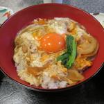 京のつくね家 - 親子丼 小鉢、香の物、味噌汁付き2
