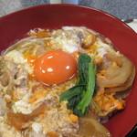 京のつくね家 - 親子丼 小鉢、香の物、味噌汁付き3