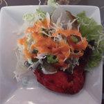 スジャータインディアンレストラン - 料理写真:セットのサラダ チキンはサービス(´▽`)ノ