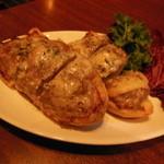 ラ ボッテガ デル オーリオ - 自家製イベリコ豚のサルシッチャ ゴルゴンゾーラのせトーストグラタン