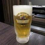 お好み鉄板焼き とんぼ - 生ビール