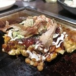 お好み鉄板焼き とんぼ - 豚玉(ハーフ)