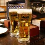 かき小屋フィーバー@BLUEJAWS - 飲み放題の生ビール♪
