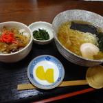 イタリアン×和食 Luce - ラーメン+小焼肉丼セット 650円