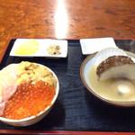 ろくさん食堂 - 三色丼