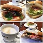 ドトールコーヒーショップ - サンダーバードの時間までBセット食べとこ( ´ ▽ ` )ノ ホットサンドって美味しいなぁ✨カフェラテとで¥390