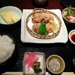 樞 - 純系名古屋コーチン唐揚げ御膳 1,800円