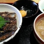 地料理の店 ごんきち - 鰯とかま揚げしらすの親子丼定食 2016.2