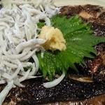 地料理の店 ごんきち - 鰯とかま揚げしらすの親子丼定食アップ 2016.2