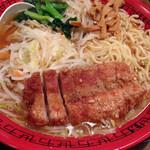 万世麺店 - パーコ野菜麺特盛り1,050円