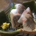 かご平 - 地アジ定食(刺身)
