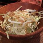 ビストロゴキゲン鳥 - お通しのサラダ