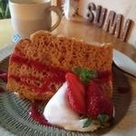 Sumi Cafe - 苺のシフォンケーキのセット