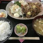 47374400 - 生姜焼き定食¥1000♪
