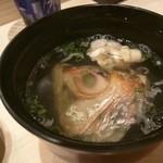 鮨 春松 - のど黒のあら汁
