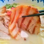 西海 稲城若葉台店 - 炙りバラトロチャーシュー(アップ)
