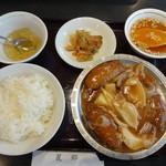 麗郷 - セットメニュー(鶏紅鮑魚)
