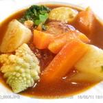 ハートストリングス - 料理写真:煮込みハンバーグ 自家製野菜たっぷりです 2016.2