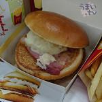 マクドナルド - ポテトが、肉の味を消し去るバーガー(高っ) LLセット 760円