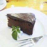 ラ・ポルタ - 2006年か2007年、ランチドルチェのガトーショコラ。美味しいけど『ビスキーショコラ』が気に入り過ぎて一度しか注文してません