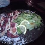 西新酒場 一期 - イチジクと鴨の生ハムのサラダ