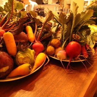 たっぷりの野菜と今を感じる食材達をご堪能下さい。