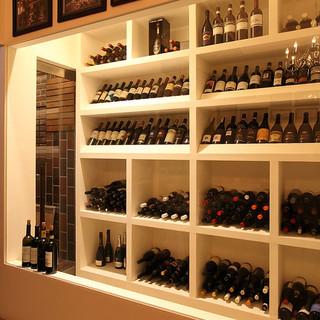 イタリア中のワインを御堪能いただけます。