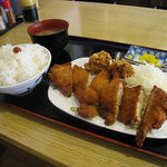 がっつり亭 - Wチキンカツ定食 2008/5