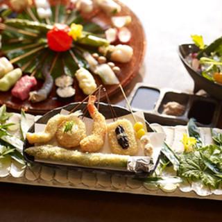 天使海老など♦良質食材♦を持ち味に合わせた調理法で仕上げます