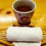 旬草 弥ひろ - ほうじ茶!!あ、ビール頼めば良かった(笑)