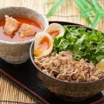 香味つけ蕎麦 七並 - よくばりパクチーつけ蕎麦 1100円