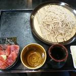 47405732 - 【2016.2.12(金)】まぐろづけ丼ランチ(まぐろづけ丼+もりそば)840円→500円