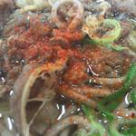 めん処 広川 - この牛美こと牛肉様も軽い甘味と醤油のいい感じで一味の化粧が良くう!
