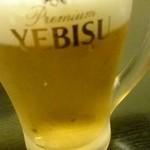 旨肴旨酒 おさかな家 - エビス生ビール