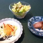47409071 - 本日の前菜2種 サラダ