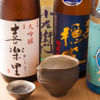日本酒が豊富!!常時25種類以上の地酒をご用意!!