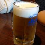 おしゃれ小屋 - 生ビール550円(税込)