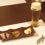 別邸 福の花 - お通し/生ビール(小)
